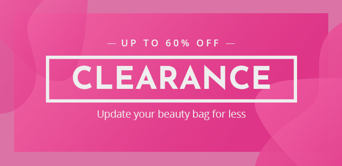 Clearance - up to 60% off beauty and fragrance