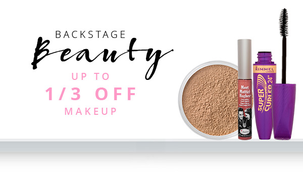 Backstage Beauty - up to 33% off makeup