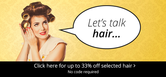 Hair event now on - up to 33% off selected hair care at Feel Unique.