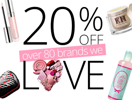 20% OFF OVER 80 BRANDS
