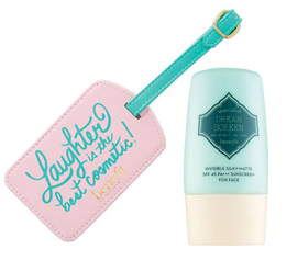 Benefit Luggage Tag and Dream Screen Deluxe Sample Duo - Free Gift