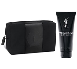 Yves Saint Laurent Men's Wash Bag & La Nuit de L'Homme Shower Gel 200ml Duo - Free Gift