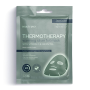 BeautyPro THERMOTHERAPY Warming Silver Foil Mask with Vitamin C & Green Tea Masque en Feuilles d'Argent 25ml