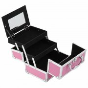 Laroc Cosmetics Pink Makeup Case With Mirror