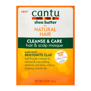 Cantu Cleanse & Care Hair & Scalp Masque with Bentonite Clay 50g