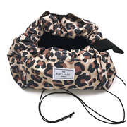 The Flat Lay Co. Open Flat Makeup Bag in Leopard Print