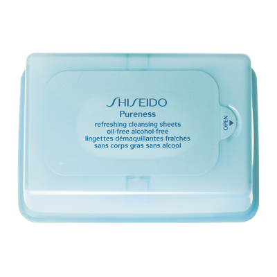 Shiseido Pureness Refreshing Cleansing Sheets Oil-Free Alcohol-Free - 30 Sheets