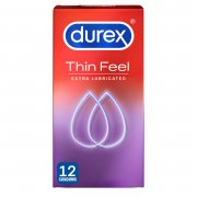 Durex Thin Feel Extra Lubricated - 12 Condoms
