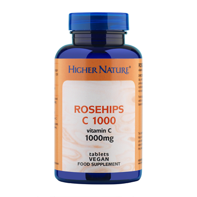 Higher Nature Rosehips C Vitamin C 1000mg Tablets