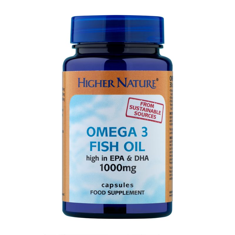 Higher nature omega 3 fish oil 1000mg capsules feelunique for Fish oil capsules