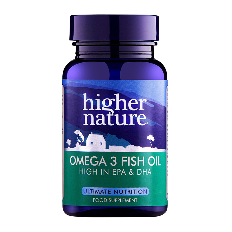 Higher nature omega 3 fish oil 1000mg capsules feelunique for Omega 3 fish oil pills