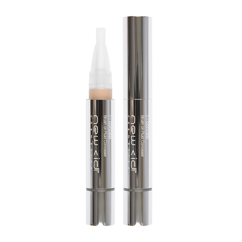 New CID Cosmetics i - conceal Brush on Fluid Concealer 3.9ml Light