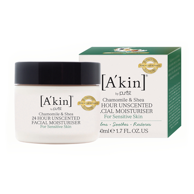 A'kin Unscented 24 Hour Pure Moisture 50ml