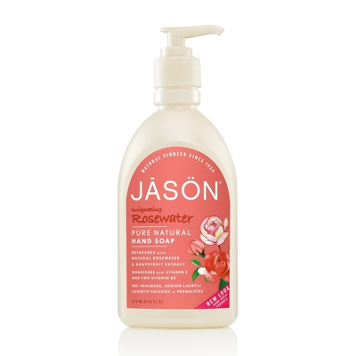JASON Invigorating Rosewater Pure Natural Hand Soap 500ml