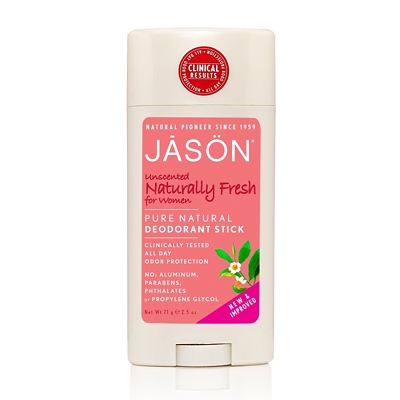 JASON Unscented Naturally Fresh Pure Natural Deodorant Stick for Women 75g