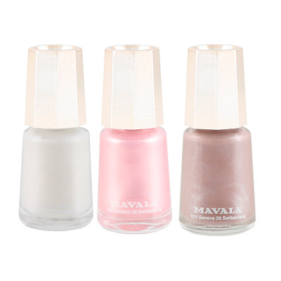 Mavala Nail Colour Trio - Barely There: Via Veneto, Rose & Geneve