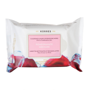 Korres Pomegranate Cleansing & Make Up Removing Wipes x25