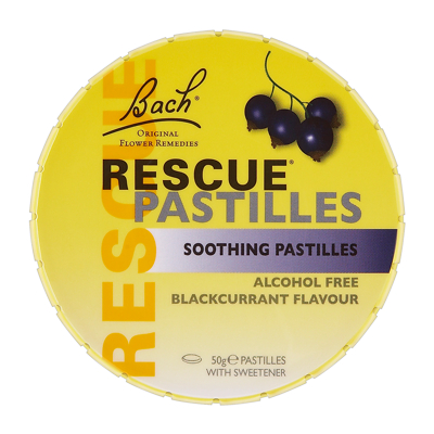 Bach Rescue Remedy Soothing Pastilles - Blackcurrant Flavour 50g