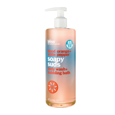 bliss blood orange + white pepper soapy suds 473.2ml