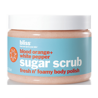 bliss blood orange + white pepper sugar scrub 330g