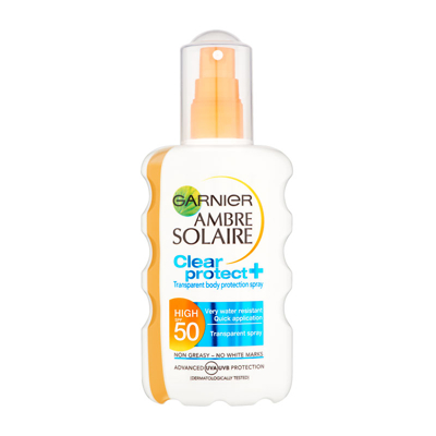 Garnier Amber Solaire Clear Protect Spray SPF50 200ml