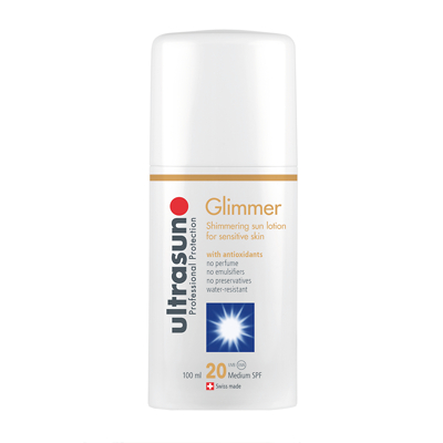Ultrasun Sensitive Medium SPF 20 Glimmer Formula 100ml