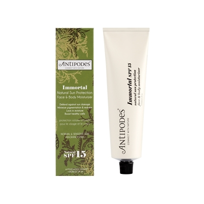 Antipodes Immortal Natural Sun Protection Face & Body Moisturizer SPF 15 60ml