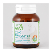 Wise Owl Zinc + Copper Biogurt 60 Tablets