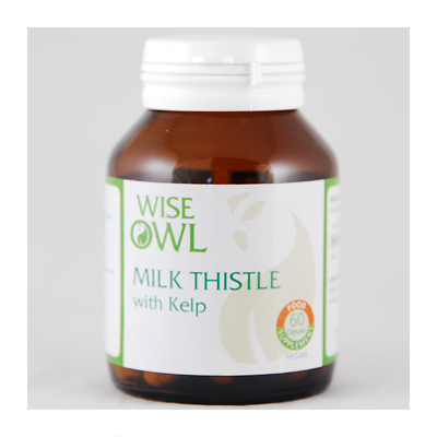 Wise Owl Milk Thistle + Kelp 60 Tablets