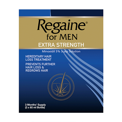 Regaine for Men Extra Strength Scalp Solution - Triple Pack 3 x 60ml