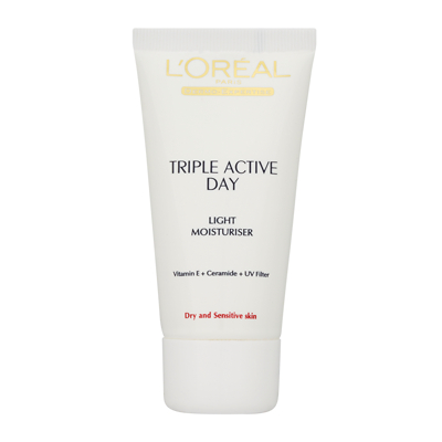 L'Oréal Paris Triple Active Day Light Moisturiser - Dry & Sensitive Skin 50ml