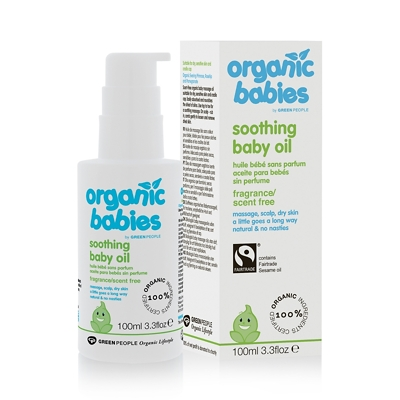 Green People Organic Babies No Scent Baby Oil 100ml