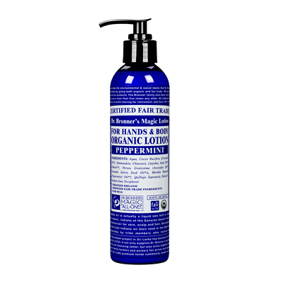 Dr Bronner's Organic Peppermint Lotion 236ml