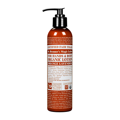 Dr Bronner's Organic Orange Lavender Lotion 236ml