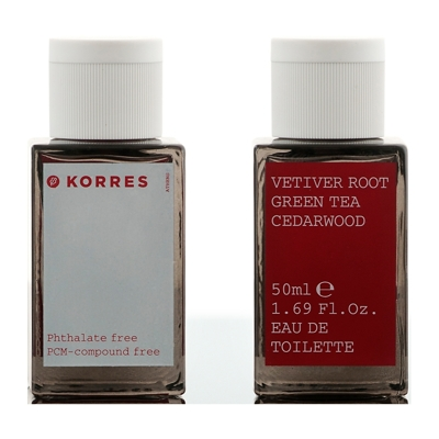 Korres Vetiver Root, Green Tea & Cedarwood Eau De Toilette Spray 50ml