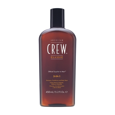 American Crew Classic 3-in-1 Shampoo, Conditioner & Body Wash 450ml