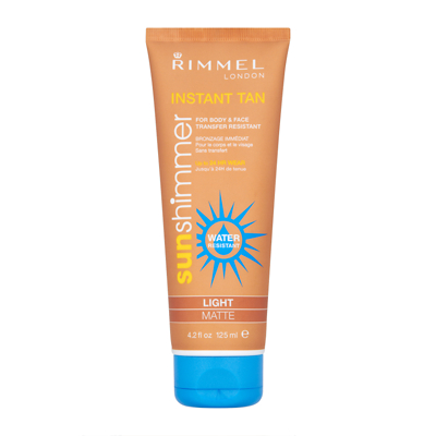 Rimmel Water Resistant Instant Tan 125ml Light Matte