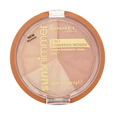 Rimmel 3 in 1 Shimmering Bronzer - Gold Princess 9.9g