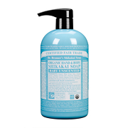 Dr Bronner's Organic Shikakai Baby Unscented Hand & Body Soap 710ml