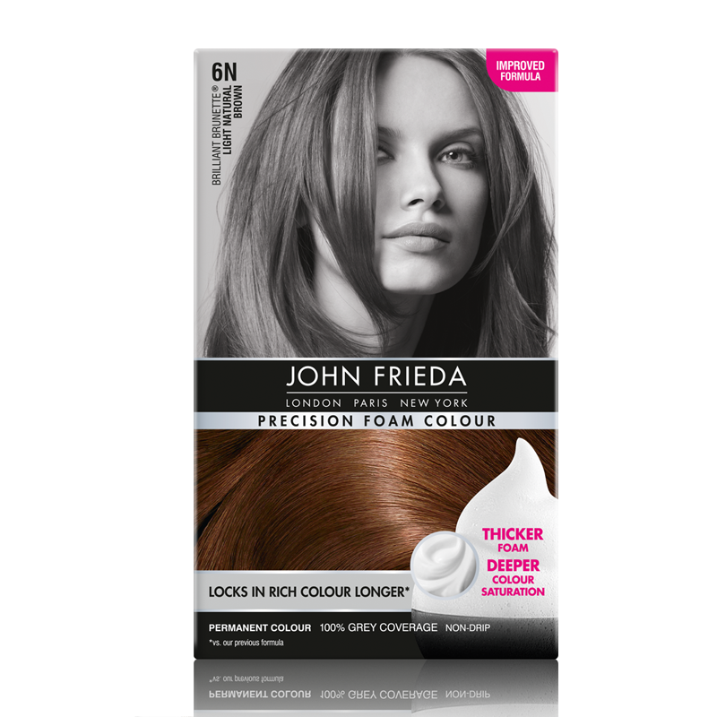 John Frieda Precision Foam Colour Brilliant Brunette 6N Light Natural