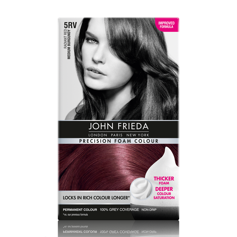 John Frieda Precision Foam Colour Radiant Red 5RV Medium Burgundy