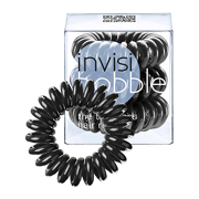 Invisibobble The Traceless Hair Ring 3 Pack - True Black