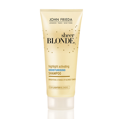 John Frieda Sheer Blonde Highlight Activating Moisturising Shampoo for Lighter Blondes 50ml