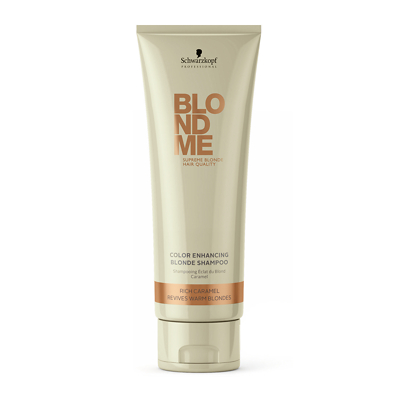 Schwarzkopf Professional BlondMe Color Enhancing Blonde Shampoo - Rich Caramel 250ml