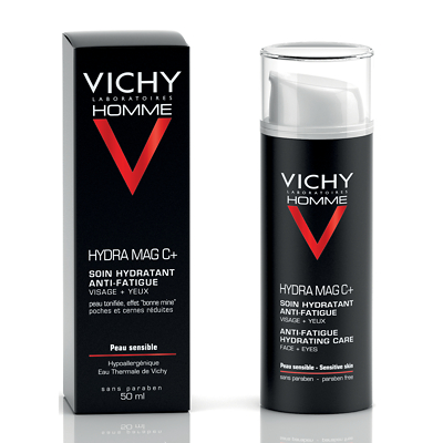 Vichy Homme Hydra Mag C Plus Anti-Fatigue 2 in 1 Moisturiser 50ml