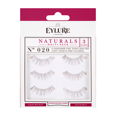 Eylure Naturals Strip Eyelashes No. 020 Multipack x 3