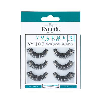 Eylure Strip Eyelashes Volume No. 107 Multipack x 3