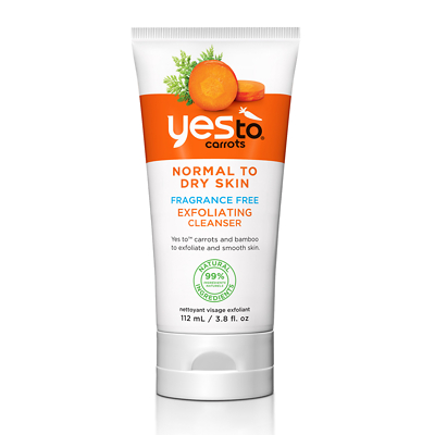 Yes To Carrots Fragrance Free Exfoliating Cleanser 110ml