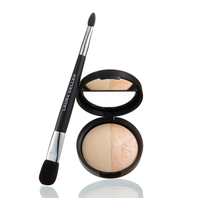 Laura Geller Beauty Baked Split Highlighter Duo with Brush 8g