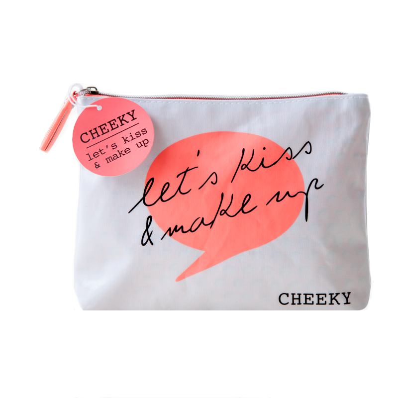 Let S Kiss And Make Up: Cheeky 'Let's Kiss & Make Up' Cosmetic Bag